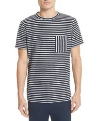 Norse Projects - Blue Niels Stripe Pocket T-shirt for Men - Lyst