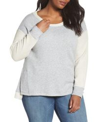 Caslon - Gray Caslon Relaxed Sweatshirt - Lyst