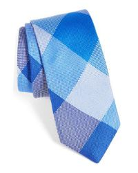 Ted Baker | Blue Plaid Silk Tie for Men | Lyst