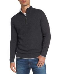 Jeremy Argyle Nyc - Gray Wool Blend Quarter Zip Sweater for Men - Lyst