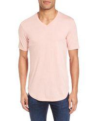 Goodlife - Blue Scallop Triblend V-neck T-shirt for Men - Lyst