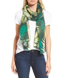 Rebecca Minkoff - Green Palm Oblong Scarf - Lyst