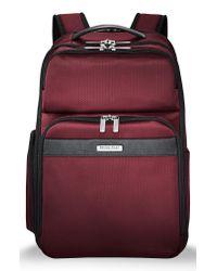 Briggs & Riley - Red Transcend 400 Cargo Backpack for Men - Lyst