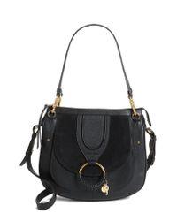See By Chloé - Black Hana Leather Shoulder Bag - Lyst