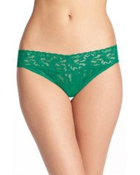 Hanky Panky - Green Regular Rise Lace Thong - Lyst