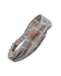 Tasha - Gray Patterned Twist Head Wrap - Lyst