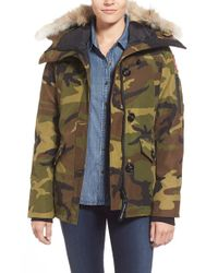 Canada Goose | Red Montebello Slim Fit Down Parka With Genuine Coyote Fur Trim | Lyst