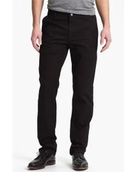 AG Jeans | Black Slim Straight Leg Chinos for Men | Lyst