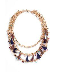 Rebecca Minkoff | Multicolor Statement Tassel Necklace | Lyst