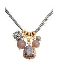 Chan Luu - Metallic Multistone Short Necklace - Lyst