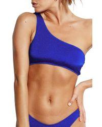 Seafolly - Blue Stella One-shoulder Bikini Top - Lyst