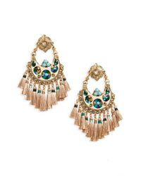Gas Bijoux - Metallic Small Eventail Statement Earrings - Lyst