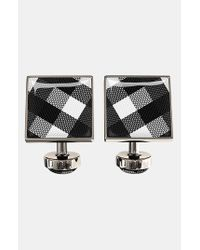 Würkin Stiffs - Metallic Check Square Cuff Links for Men - Lyst