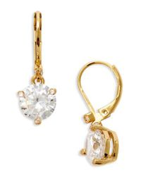 Kate Spade - White 'rise And Shine' Lever Back Earrings - Lyst