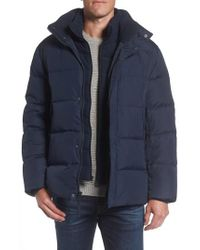 Marc New York | Blue Andrew Marc Carlton Quilted Parka for Men | Lyst