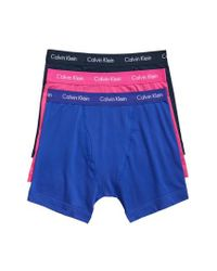 CALVIN KLEIN 205W39NYC - 3-pack Boxer Briefs, Blue for Men - Lyst