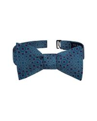 Ted Baker - Blue Ideal Botanical Silk Bow Tie for Men - Lyst