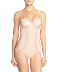 Spanx | Pink Spanx Boostie-yay Slimming Bodysuit With Bra Top | Lyst