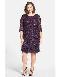 Pisarro Nights | Purple Draped Back Beaded Dress | Lyst