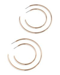 J.Crew - Metallic J.crew 4-piece Hoop Earring Set - Lyst