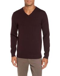 Bonobos | Purple Merino V-neck Sweater for Men | Lyst