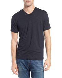 Travis Mathew | Black 'trumbull' Trim Fit Slubbed T-shirt for Men | Lyst