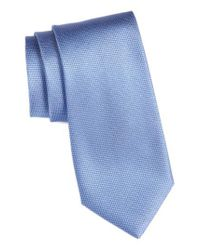 Calibrate | Blue Seattle Textured Silk Tie for Men | Lyst