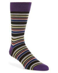 Bugatchi - Multicolor Stripe Socks for Men - Lyst