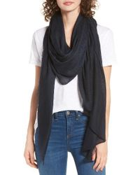 Rag & Bone - Blue 'buckley' Scarf - Lyst