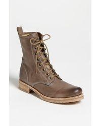 Frye | Brown 'veronica Combat' Boot for Men | Lyst