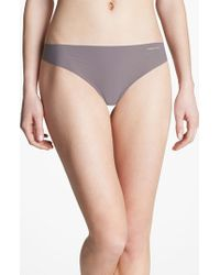 Calvin Klein   Purple 'invisibles' Thong   Lyst