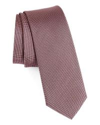 Calibrate | Pink Woven Silk Tie for Men | Lyst