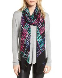 Kate Spade - Black Illusion Dot Oblong Scarf - Lyst