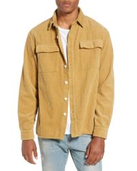 Saturdays NYC - Natural Magnus Heavy Corduroy Shirt for Men - Lyst