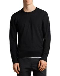AllSaints - Black Blake Crew Jumper for Men - Lyst