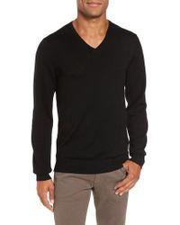 Bonobos | Black Merino V-neck Sweater for Men | Lyst