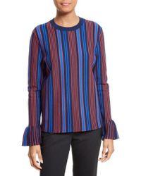 Tory Burch - Blue Lindo Flare Cuff Sweater - Lyst