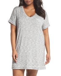 Nordstrom Gray Moonlight V-neck Nightshirt