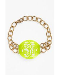 Moon & Lola - Metallic 'annabel' Medium Oval Personalized Monogram Bracelet (nordstrom Exclusive) - Lyst