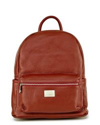 Montezemolo | Green Leather Backpack | Lyst