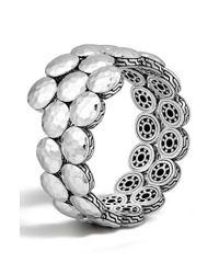 John Hardy - Metallic 'dot' Disc Double Coil Bracelet - Lyst