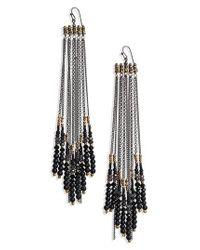 Nakamol - Black Chain Shoulder Duster Earrings - Lyst