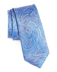 Calibrate - Blue Floating Paisley Silk Tie for Men - Lyst