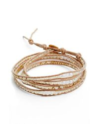 Chan Luu - Metallic Mystic Clear Quartz Mix Wrap Bracelet - Lyst