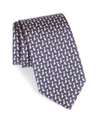 Ferragamo - Black Augusto Dog Print Silk Tie for Men - Lyst
