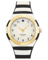 Kate Spade | Black 'rumsey' Plastic Strap Watch | Lyst