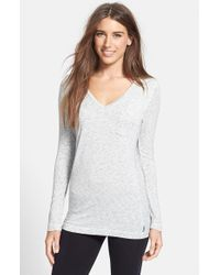 DKNY | Gray 'city Essential' Long Sleeve Tee | Lyst
