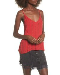 Lost + Wander - Red Lost + Wander Rouge Beaded Camisole Top - Lyst