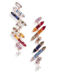 Nadri - Multicolor Prism Jagged Linear Drop Earrings - Lyst
