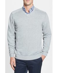 Cutter & Buck | Gray 'broadview' V-neck Sweater for Men | Lyst